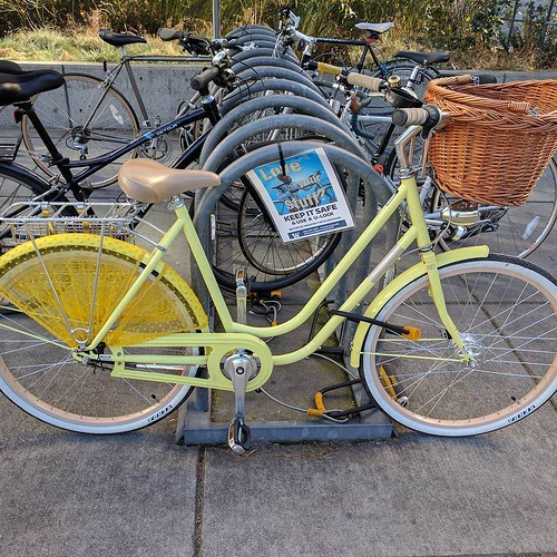 Now that's a pretty commuter. Time to shop for a skirt and straw basket...