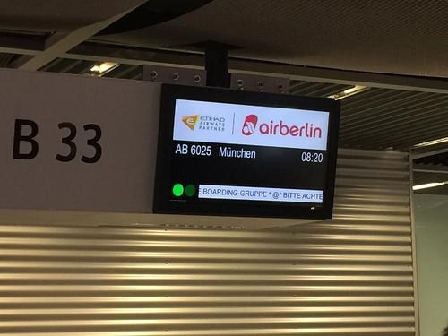 179 - Weiterflug von Düsseldorf nach München