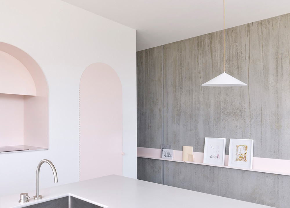 Melbourne pink apartment design by BoardGrove Architects Sundeno_03