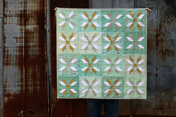 Wintermint Snowflakes baby quilt