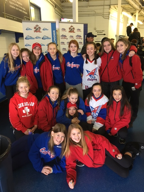 U14AA White and Blue at RATH game - Friends First - Feb 11, 2017
