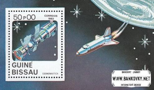 Známky Guinea Bissau 1983 Vesmír razítkovaný hárček