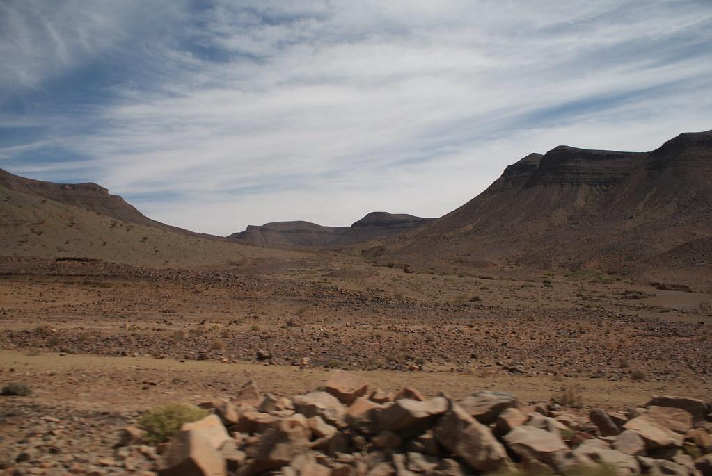 La majesté du désert marocain au sud de Marrakech près de Ouarzazate.