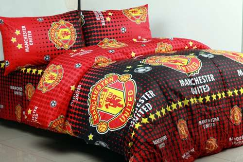 Sprei Bola Katun Viscose Manchester United