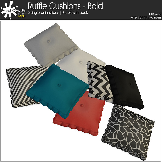 Mudhoney Ruffle Cushions - Bold