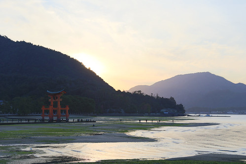 O-Torii (Grand Torii Gate) Itsukushima Shrine Miyajima Island at low tide #2