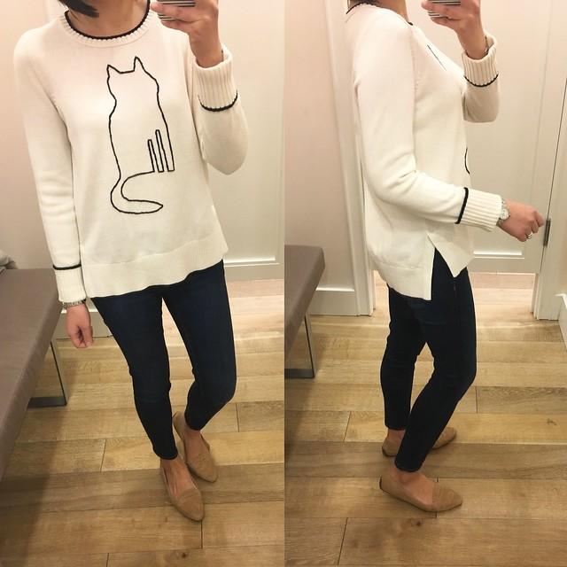 LOFT Cat Sweater, size S regular