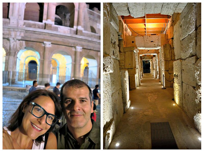 Como é visitar os subterrâneos do Coliseu