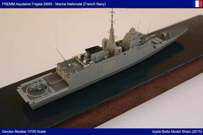 FREMM Aquitaine D650 Frégate ASM - Gwylan Models 1/700 par Ayala Botto 22594782127_3486c893a8_o