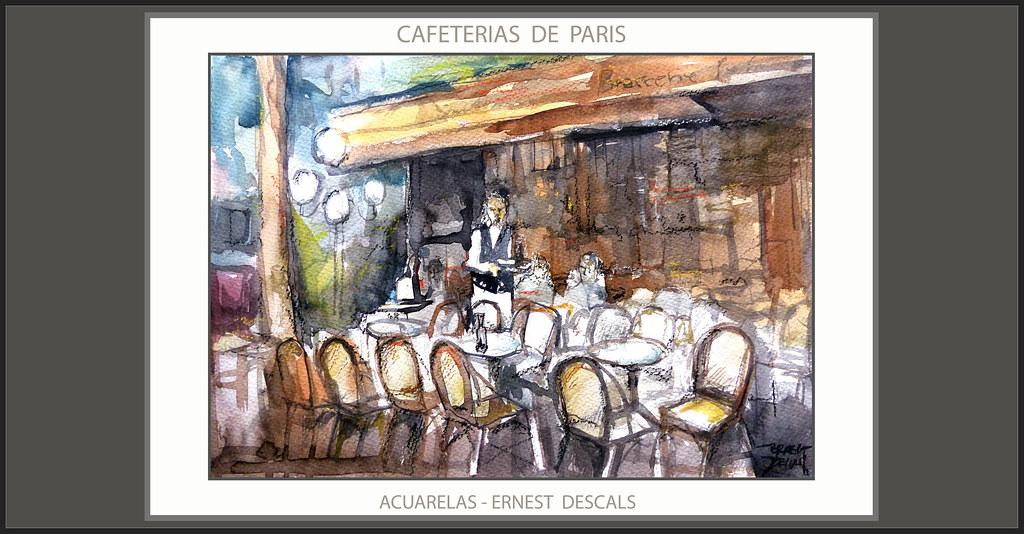 Paris Pintura Art Paintings Watercolor Acuarelas Cafeteria