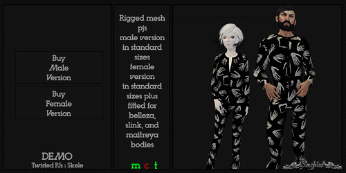~SongBird~ Twisted Pjs : Skele | by ~SongBird~ In Second Life