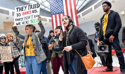 No Ban, No Wall Protest at PHL Airport