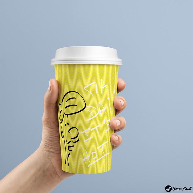 hot coffee mug sarcasm drawing