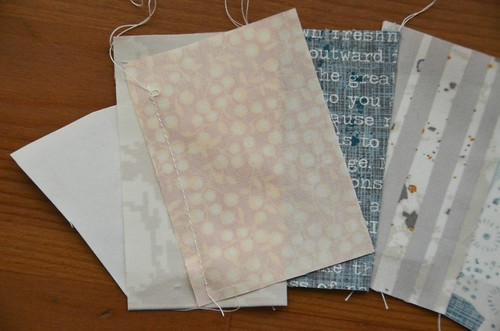 8. Repeat steps 6-7 for each of 5 fabric rectangles