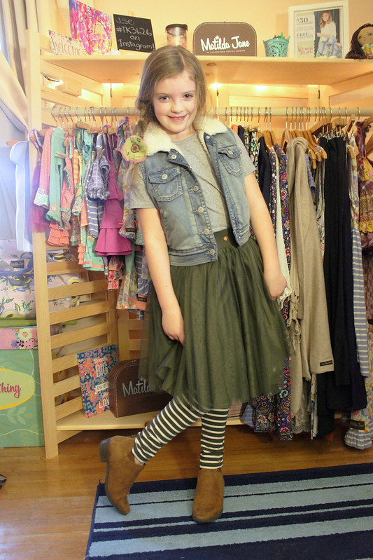 Matilda Jane Treehouse Skirt and Matilda Jane Starting Line Leggings