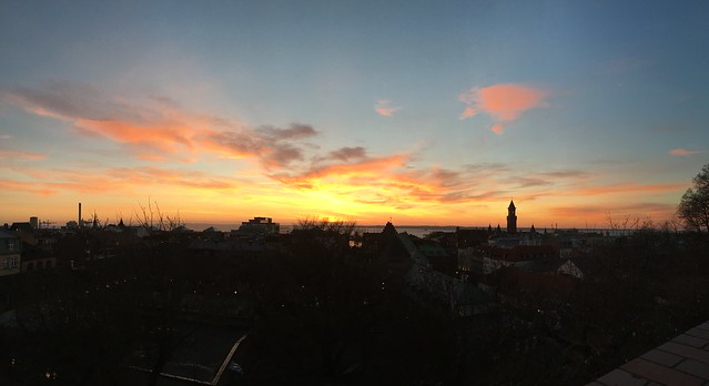thursday, sunset, helsingborg