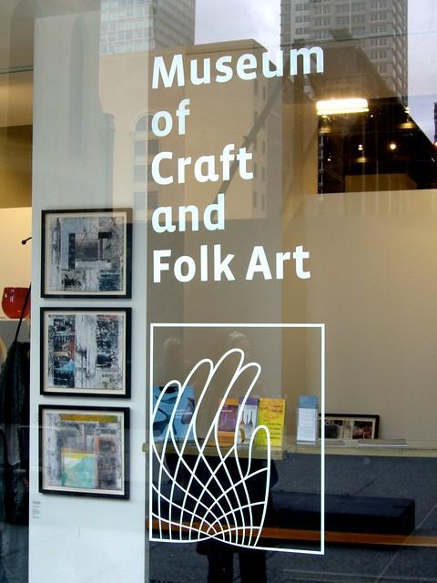 Museum of craft and folk art window flickr photo for Craft and folk art museum