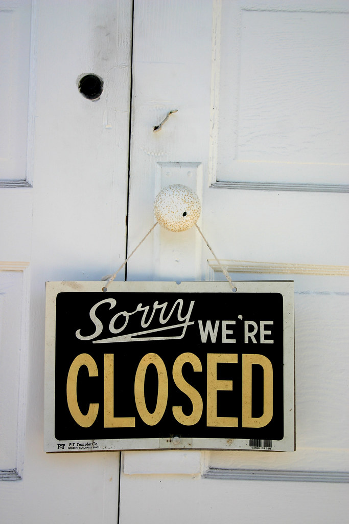 Image: Sorry We're Closed