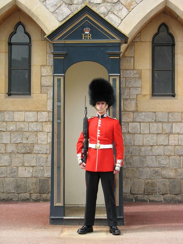 Foot Guard Windsor Castle England A Foot Guard On Duty