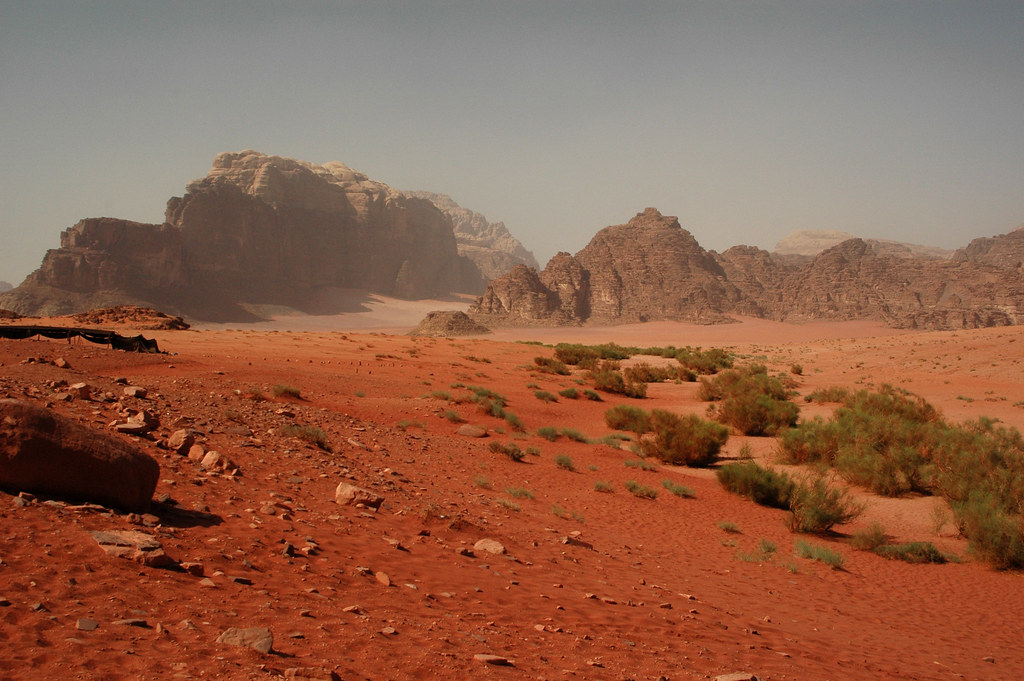 Wadi Rum Desert And Its Red Color