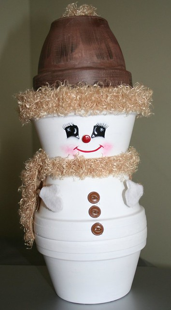 Crafts Clay Pots - Snowman - 2005 | I love making thing ...