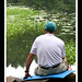 Dad sitting by the water