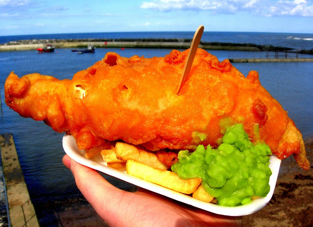 Fish, Chips, Mushy Peas & The Soft Curve Of The Earth | Flickr