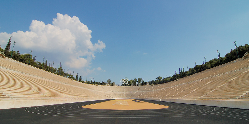 Image result for Panathenaic stadium & Olympic stadium athens