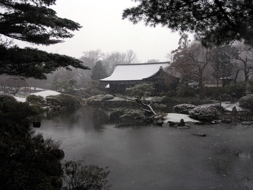 shofuso japanese house and garden in winter fairmount par u2026 flickr