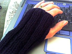 One-day wristwarmers | by Twisted Knitter