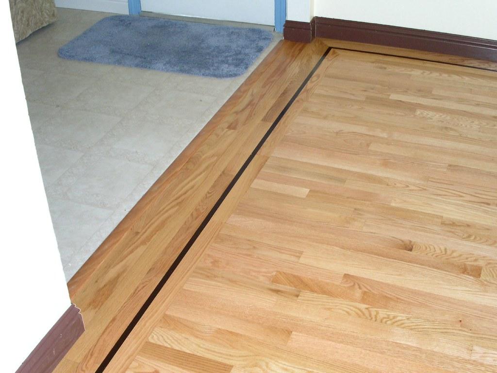 Oak Hardwood Floor With Walnut Inlay Feature Strip Flickr