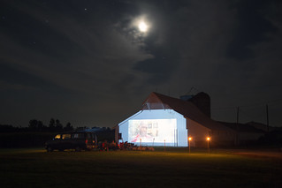 Movie Projected on the Barn, Indiana | by metroblossom