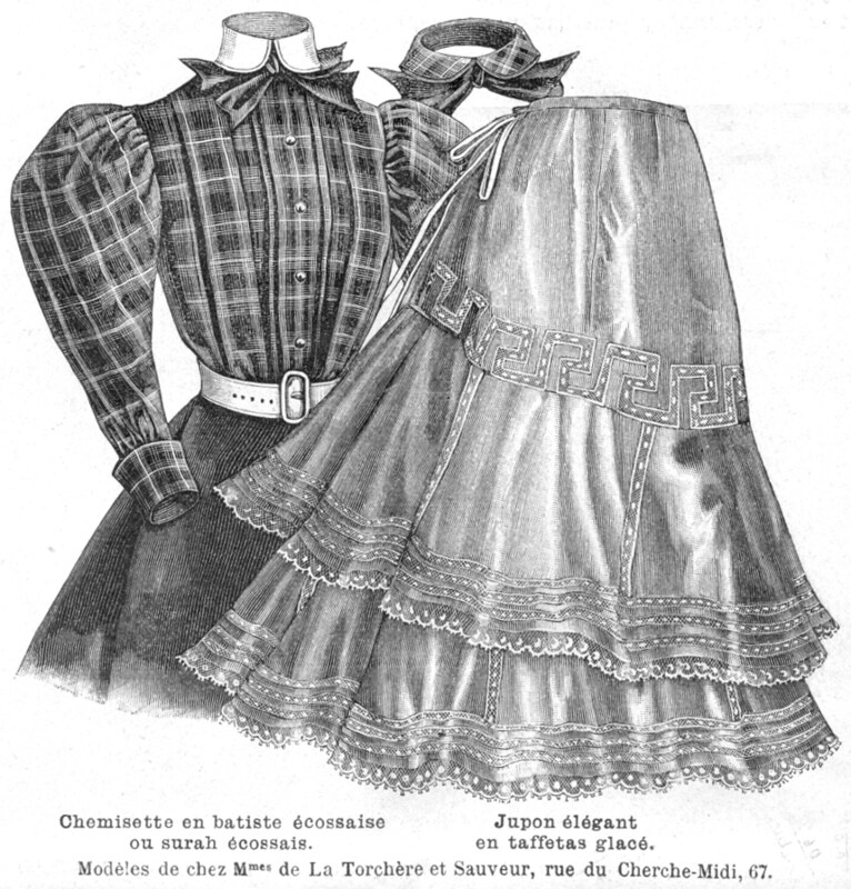 Blouse en tissu écossais, 1897