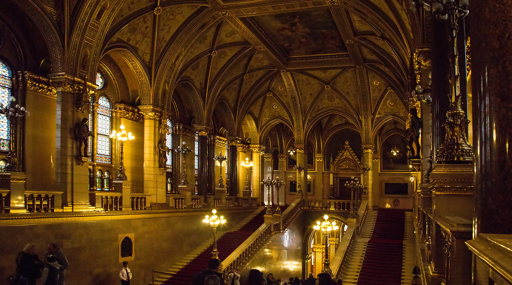 ... Interior Of The Houses Of Parliament In Budapest   By Cactipal