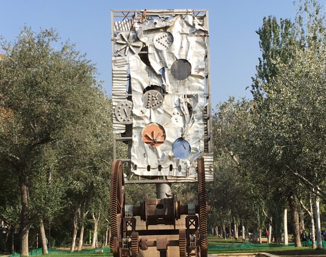 Outdoor art near Passeig Lluís Companys. From An Unusual Way to Explore Barcelona
