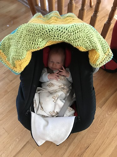 Crochet car seat cover