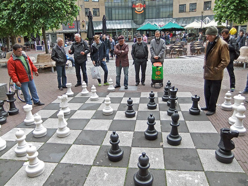 Chess game in Amsterdam