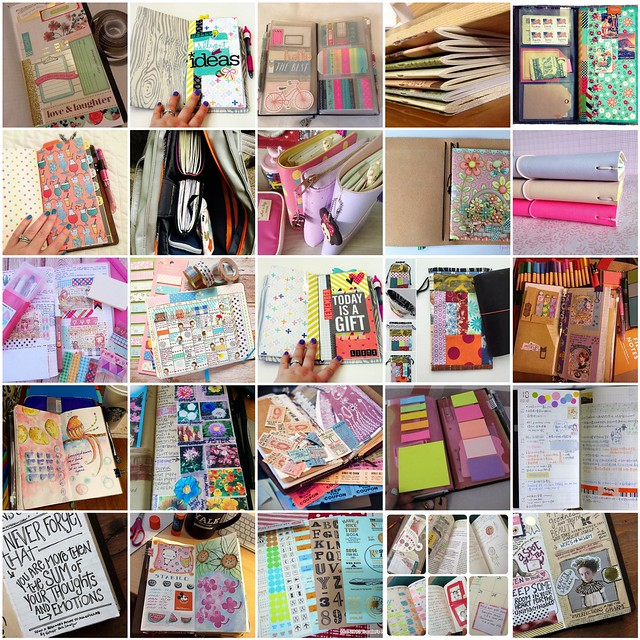 Creativity in Midori Traveler's Notebooks (or fauxdoris) #inspiration collected by iHanna #midori #travelersnotebook