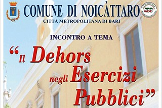 Noicattaro. Incontro Dehors front