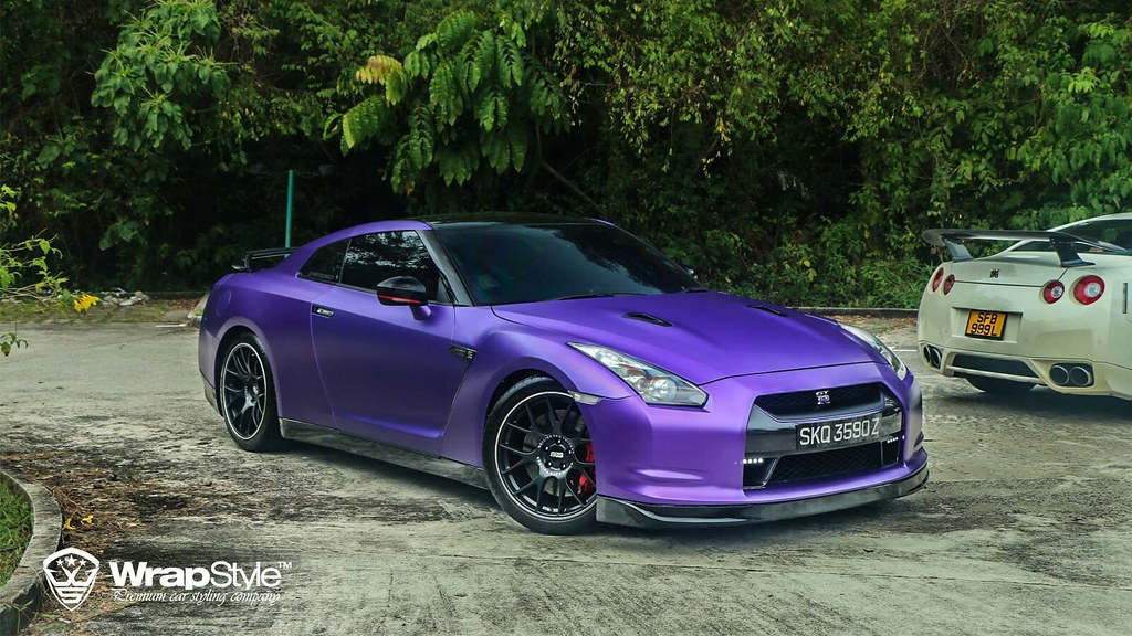 Chrome Car Wrap >> Nissan GTR Purple matt Chrome 02 wrapstyle car wrap foil ...
