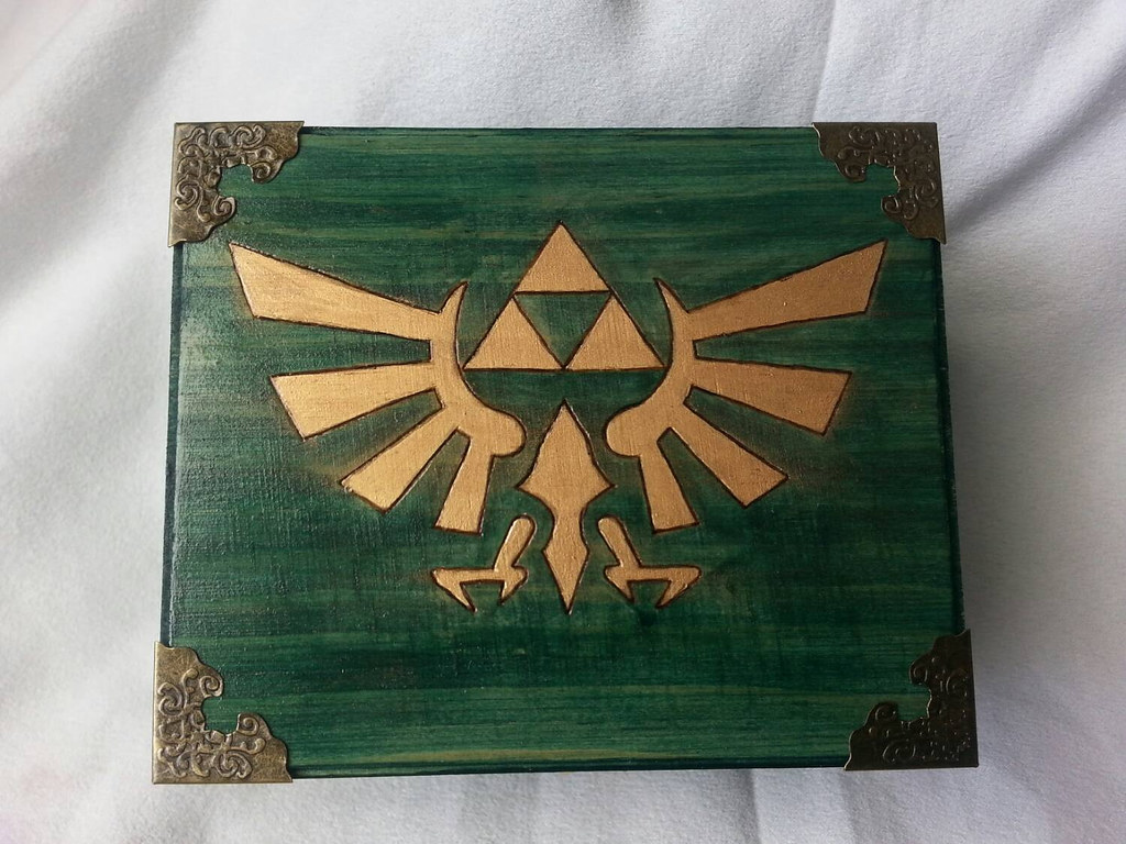 The Legend of Zelda woodburned keepsake box by Kathleen Kaderabek