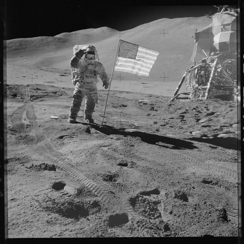 Apollo 15 Hasselblad Image From Film