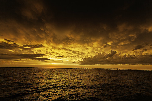 Photo of Sunset after a storm over the Chesapeake Bay, taken by Krystle Chick