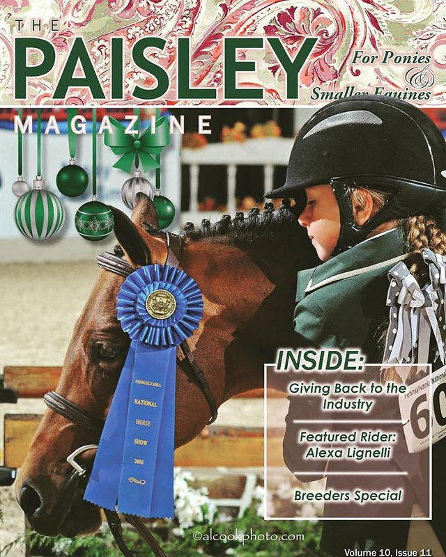 Alexa Lignelli on the cover of The Paisley Magazine