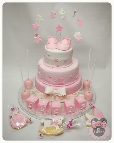 kit bautizo tarta cakepops y galletas