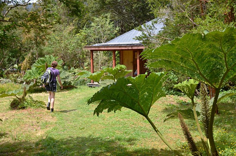 Returning to our cabin, Posada Quelat, Quelat, Chile