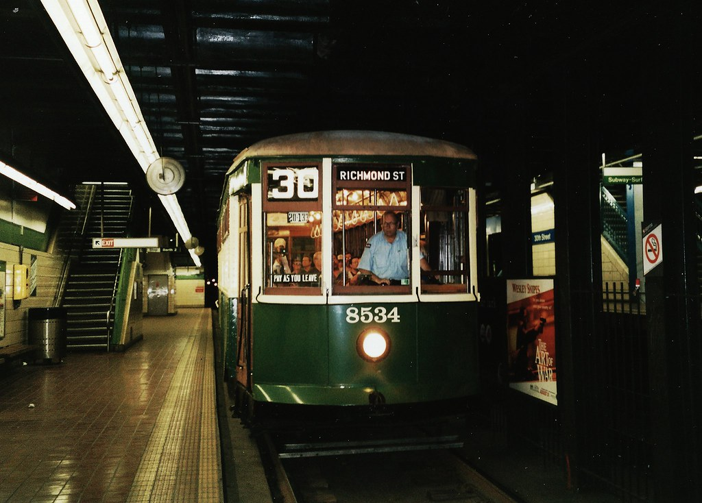 Ptc Philadelphia Trolley 8534 Subway 8534 Was The Last