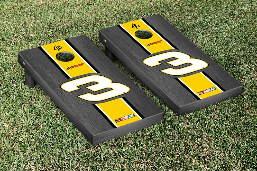 AUSTIN DILLON #3 CORNHOLE GAME SET ONYX STAINED CHEERIOS STRIPE VERSION