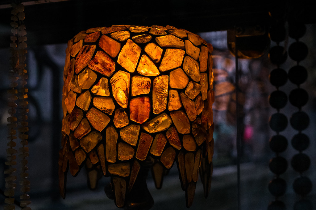 Amazing By Mckev91 A Lamp Made From Amber Fragments, Gdansk, Poland. | By Mckev91