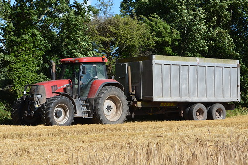 195 White Tractor : Case ih cvx tractor with a berefords grain trailer